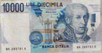 10000 Lire (diecimila vecchie lire italiane