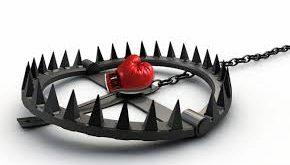 trappola con frutto rosso