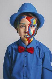 bambino viso pitturato - trucco bimbi