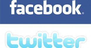Facebook e Twitter: i loghi