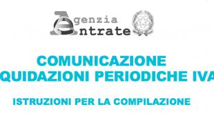 Istruzioni compilazione Modello Comunicazione Liquidazioni Iva periodiche Mensili Trimestrali