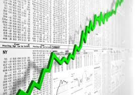 grafico verde andamento azioni borsa