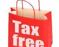 tax free - senza tasse