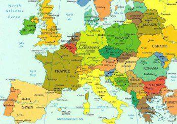 europa cartina (politica)