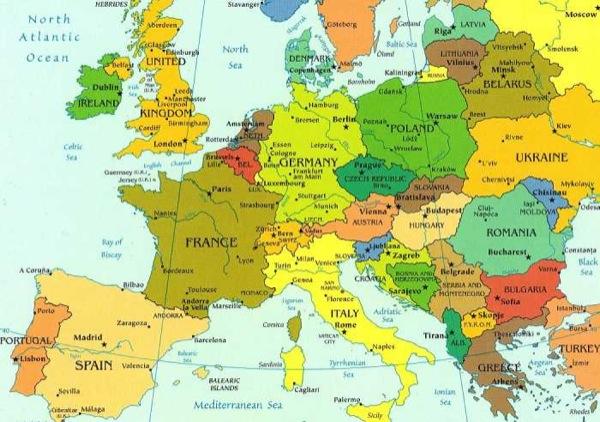 Europa Meridionale Cartina.Case In Europa Nel 2013 E Immobili In Vendita All Estero