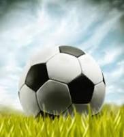 pallone da calcio sul prato