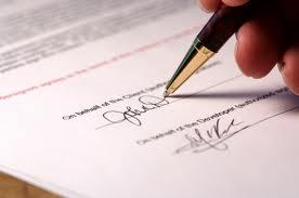 mettersi d'accordo in modo formale tramite firma accordo