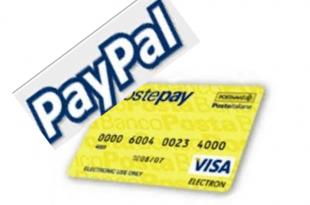 icona paypal e icona carta postepay