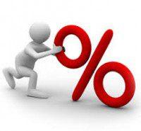 Icona percentuale con omino
